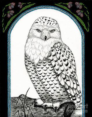 Snowy Owl Print by Christine Matha