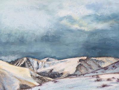Snowy Peaks Print by Abbie Groves