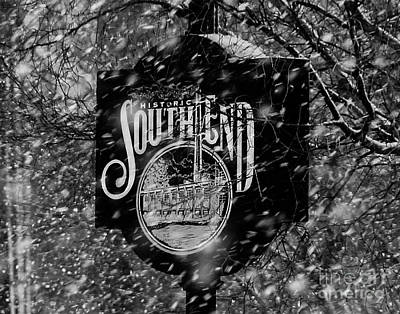 Snowy Southend Print by Robert Yaeger