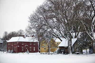 Snowy Village Print by Eric Gendron