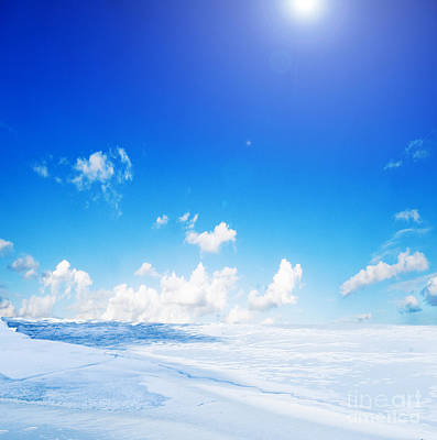 White Photograph - Snowy Winter Landscape by Michal Bednarek
