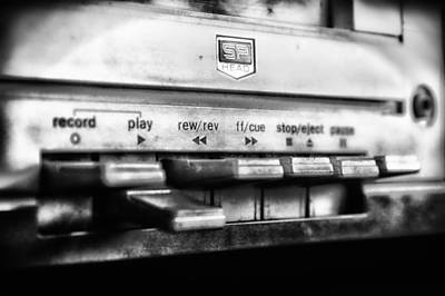 Tape Player Photograph - So Retro by Mountain Dreams