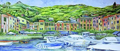 Portofino Italy Painting - So This Is Portofino by Kandy Cross