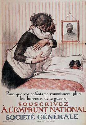Doll Photograph - So Your Children No Longer Have To Know The Horrors Of War, Subscribe To The National Loan, Poster by Georges Redon