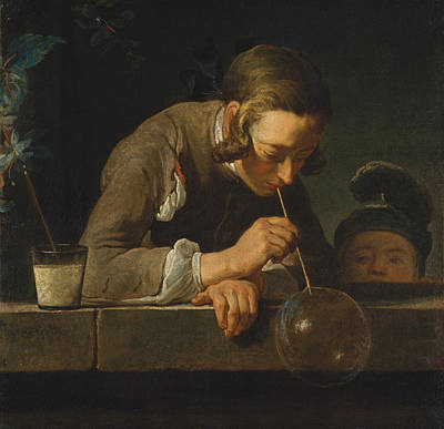 Soap Bubbles Print by Jean-Simeon Chardin