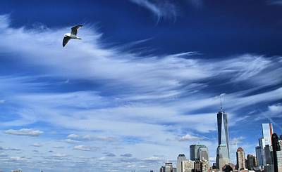 New Mind Photograph - Soar Over New York City by Dan Sproul