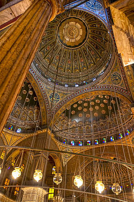 Soaring Architecture Of The Mosque Of Muhammad Ali Pasha Print by Mark E Tisdale
