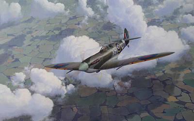 Thunderbolt Painting - Soaring Eagle by Steven Heyen