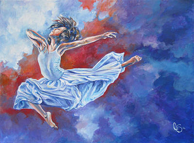 Dancing Painting - Soaring Like An Eagle by Tamer and Cindy Elsharouni