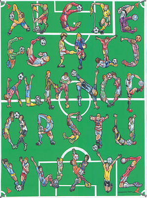 Soccer Alphabet Original by Eric Fronapfel