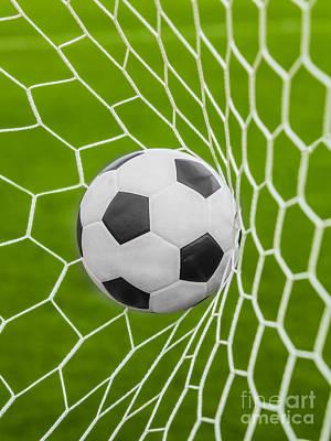 Netting Photograph - Soccer Ball by Anek Suwannaphoom