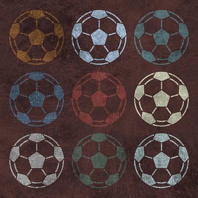 Sports Digital Art - Soccer Balls 9 by Flo Karp