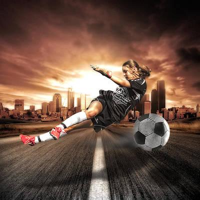 Fitness Photograph - Soccer Girl by Erik Brede