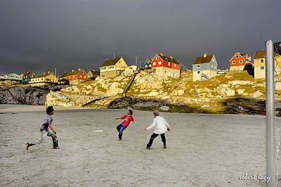 Photograph - Soccer In Greenland by Robert Lacy