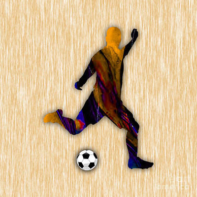 Soccer Player Print by Marvin Blaine