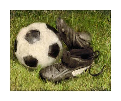 Kicking Digital Art - Soccer Practice by Craig Tinder