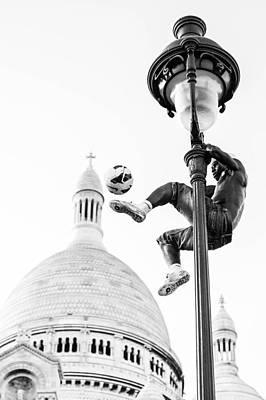 Soccer Street Performer Print by Danielle Lussier