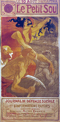 Liberating Painting - Socialist Newspaper, 1900 by Granger