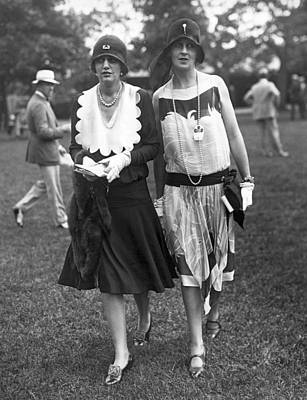 Belmont Photograph - Society Women At Belmont Park by Underwood Archives