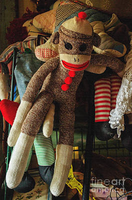 Toy Shop Photograph - Sock Monkey by Tikvah's Hope
