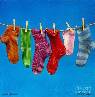 Will Jones Painting - Sock Options... by Will Bullas
