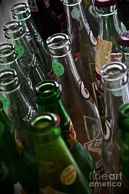 Reflections On Bottle Photograph - Soda Bottles For Sale  by JW Hanley