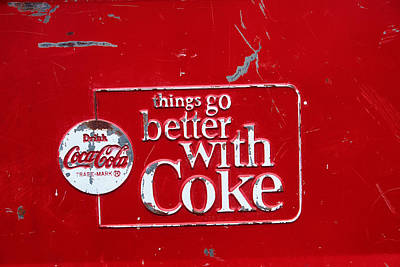 Coca Cola Sign Photograph - Soda Of Choice by Toni Hopper