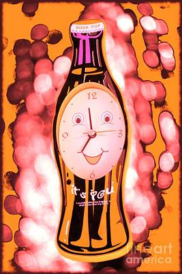 Soda Pop Clock Print by Sophie Vigneault