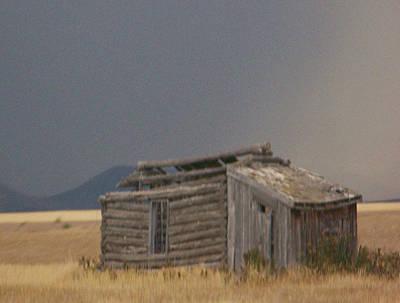 Log Cabins Mixed Media - Soda Springs Idaho by Dennis Buckman