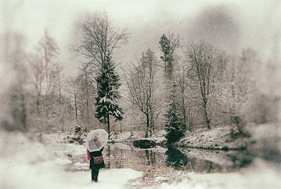 Soft And Dreamy Winter Landscape Wetplate Effect Print by Matthias Hauser