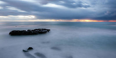 Soft Blue And Wide Print by Peter Tellone