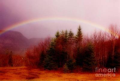 Soft Cape Breton Rainbow Print by John Malone