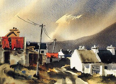 Soft Day In Achill Mayo Print by Val Byrne