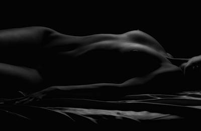 Nudes Photograph - Soft Glow Bw by Naman Imagery