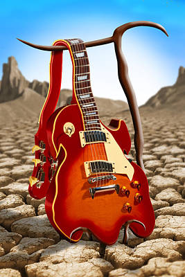 Mike Digital Art - Soft Guitar by Mike McGlothlen