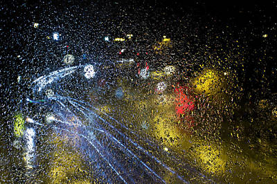Reflection Photograph - Soft Pitter Patter Of Rain by EXparte SE