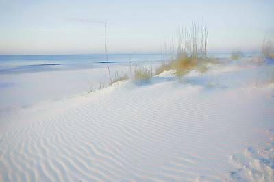 Sand Fences Digital Art - Soft Sandy Beach by Michael Thomas