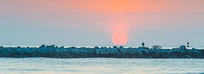 Soft Sunrise At Jetty Park Print by Cliff C Morris Jr