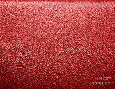 Space Photograph - Soft Wrinkled Red Leather by Michal Bednarek