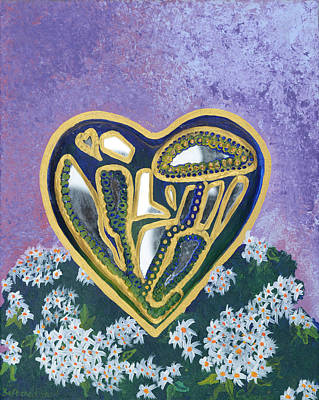 Softened Heart Best Reflections Energy Collection Print by Catt Kyriacou