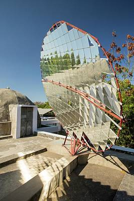 Solar Cookers At The Barefoot College Print by Ashley Cooper