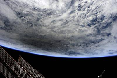 Earth From Space Photograph - Solar Eclipse, Iss Image. by Science Photo Library