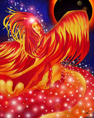 Fire Fairy Print by Larry Rice