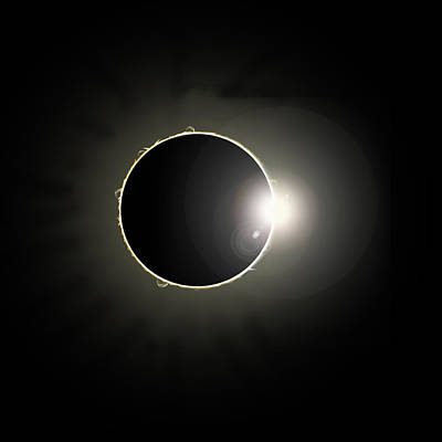 Solar Eclipse Print by Marc Ward
