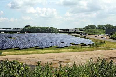 Airfield Photograph - Solar Farm by Martin Bond