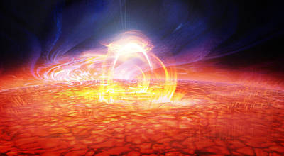 Cosmic Space Painting - Solar Flare by Don Dixon