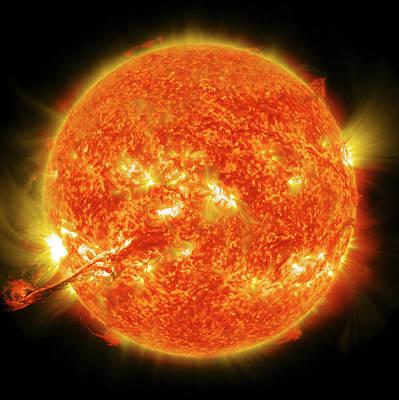 2012 Photograph - Solar Flare by Nasa/gsfc/sdo