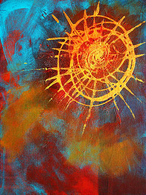 Sun Symbol Painting - Solar by Nancy Merkle