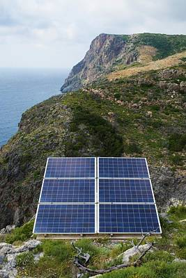 Solar Panels Greece Print by David Parker