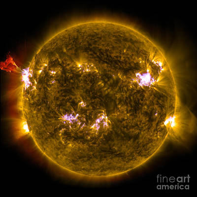 Heavenly Body Photograph - Solar Prominence Eruption by Science Source